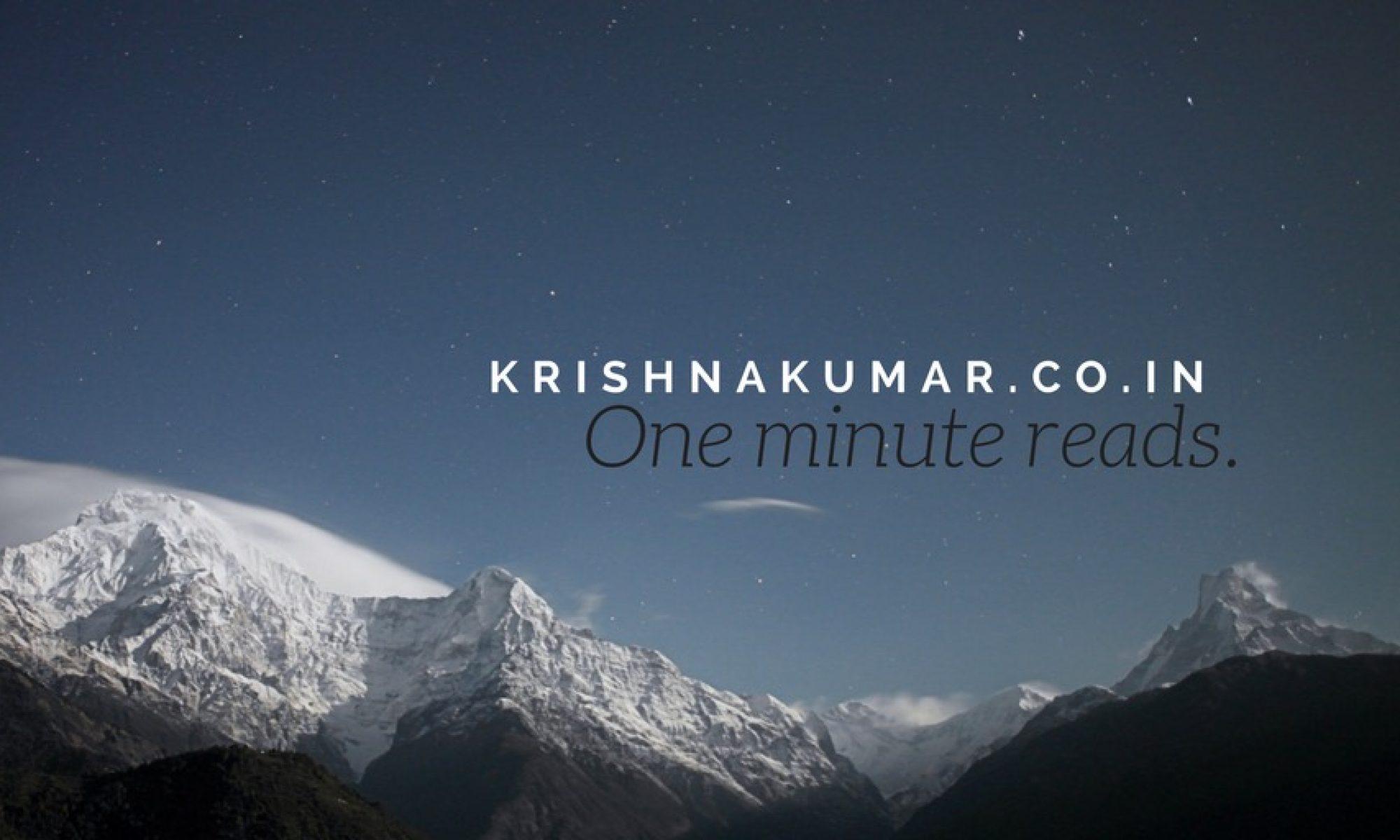 Krishna Kumar (KK)